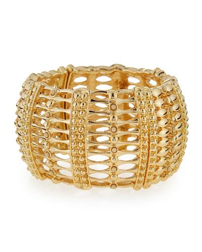 Wide Golden Stretch Bracelet