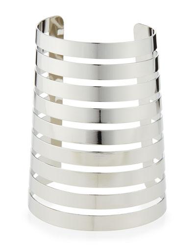 Silvertone Wide Gladiator Cuff