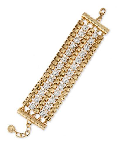 Five-Strand Crystal Bracelet