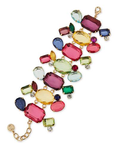 Multicolor Crystal Station Bracelet