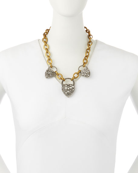 Blackheart Rhinestone Necklace