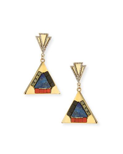 Petra Triangle Mosaic Drop Earrings