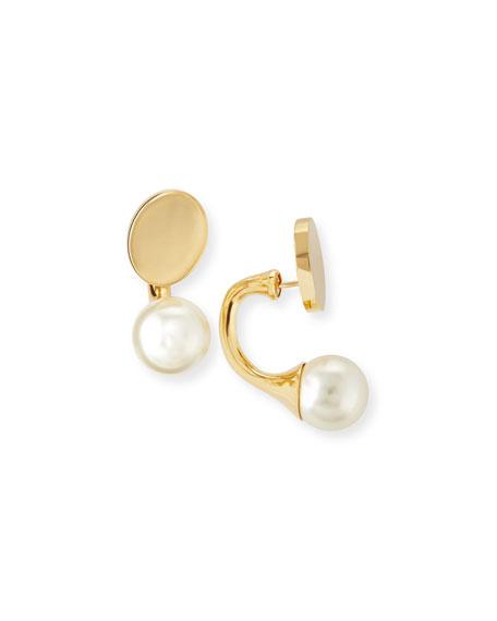 Chloe Darcy Simulated Pearl & Disc Earrings