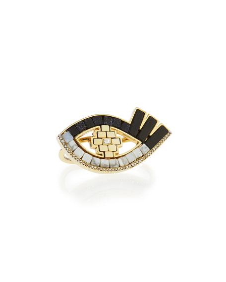 Lulu FrostLumen Mosaic Eye Two-Finger Ring