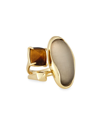 Liquid Bezel & Tiger's Eye Cocktail Ring