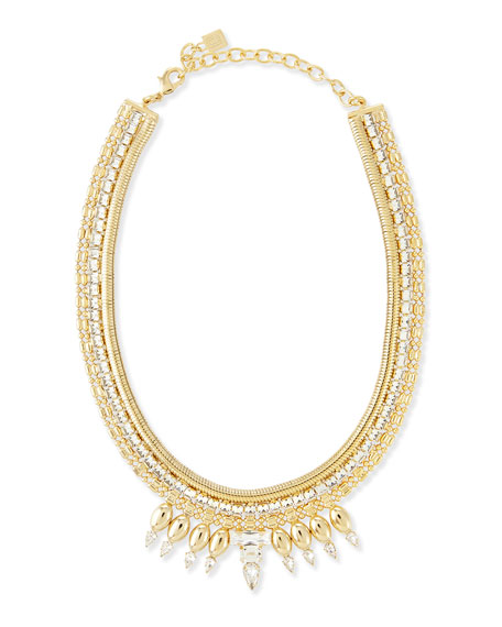 Dannijo Liev Gold-Plated Crystal Necklace