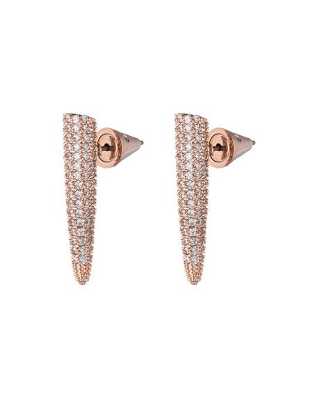 Pave Crystal Mini Spike Earrings