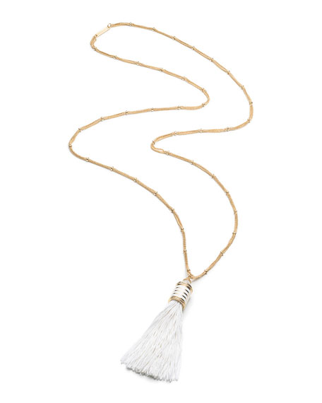 Eddie Borgo Long Tassel Pendant Necklace, 36""