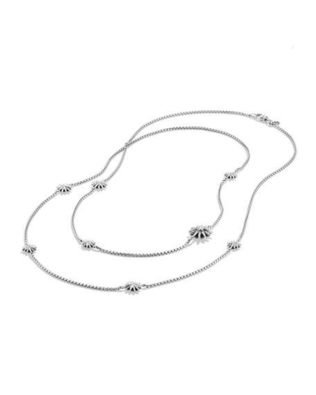 "Starburst Station Necklace with Diamonds, 36"""