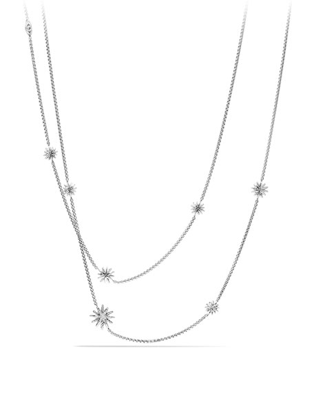 Starburst Station Necklace with Diamonds, 36""
