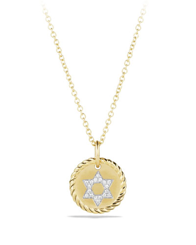 Diamond Star of David Pendant Necklace