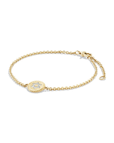 Star of David Bracelet with Diamonds in 18k Gold