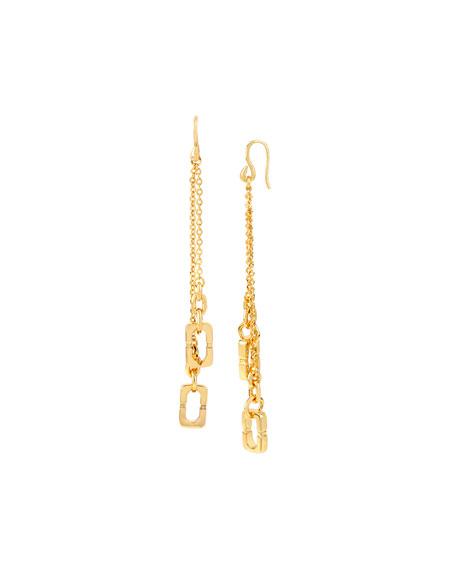Linear Chain Link Drop Earrings