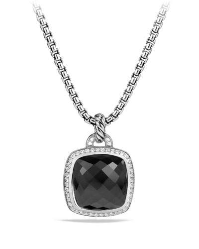 Albion Pendant with Black Onyx and Diamonds, 17mm