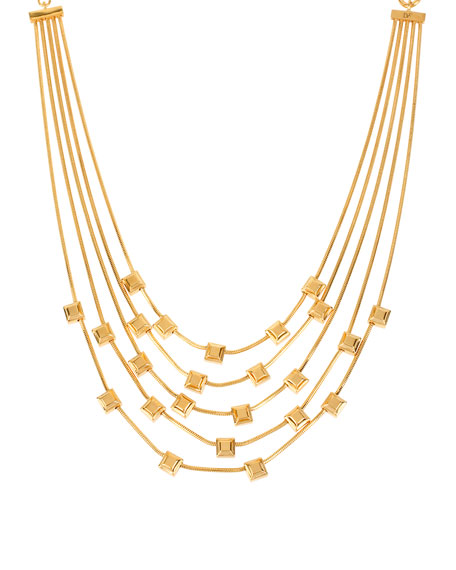 Five-Row Cube Station Necklace