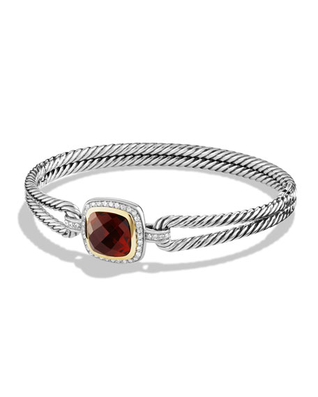 David Yurman Albion Bracelet with Garnet, Diamonds and