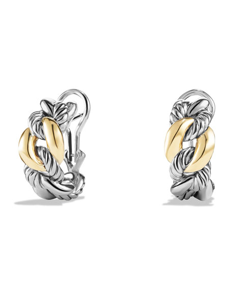David Yurman Earrings with 18k Gold, 20mm