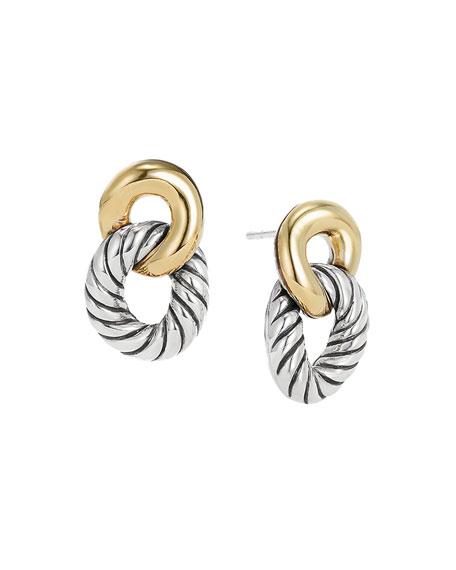 David Yurman Drop Earrings with 18k Gold