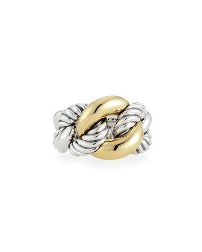 Belmont Curb Link Ring with 18k Gold