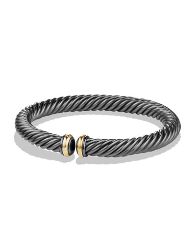 7mm Cable Spira Sterling Silver Bracelet