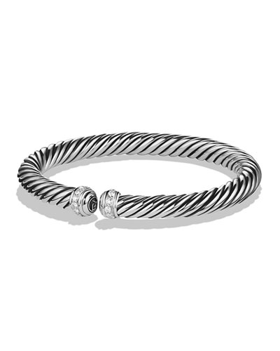 7mm Cablespira Diamond Bracelet