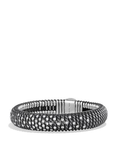 12mm Tempo Spiral Black Spinel Cuff Bracelet