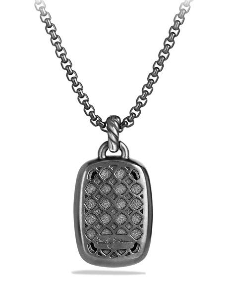 Albion Pendant with Hematine and Black Diamonds