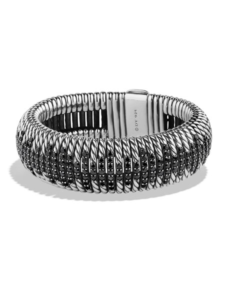 David Yurman 20mm Tempo Black Spinel Cuff Bracelet