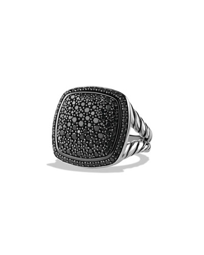 Albion Ring with Black Diamonds