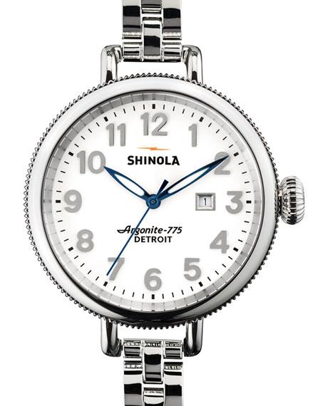 Shinola 34mm Birdy Stainless Steel Watch