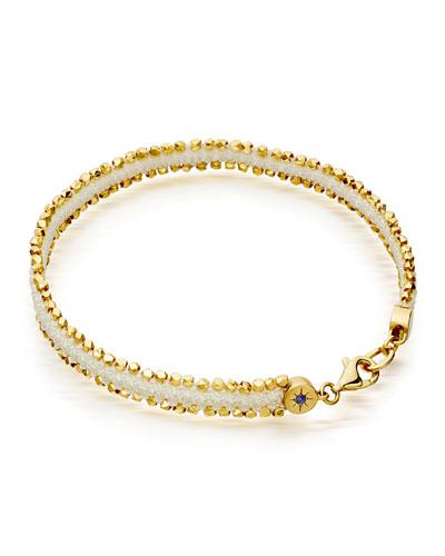Woven Cord Nugget Bracelet, White