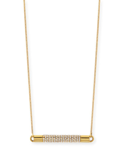 Turntable Pave Crystal Necklace
