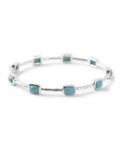 Silver Rock Candy 9-Stone Bangle in Turquoise