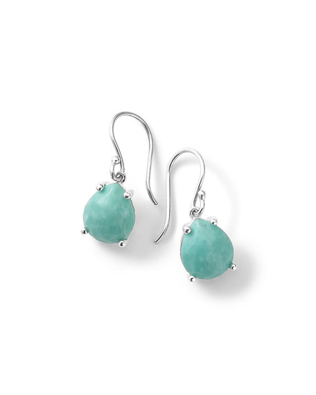 Silver Rock Candy Pear Drop Earrings in Turquoise