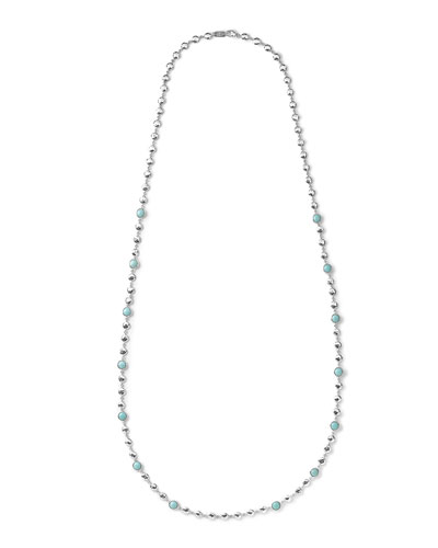 Silver Rock Candy Multi-Stone Necklace in Turquoise, 40