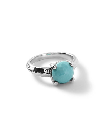 Silver Rock Candy Knife Edge Ring in Turquoise