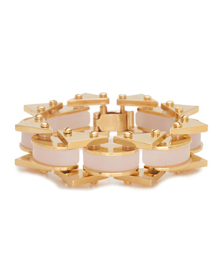 Lele Sadoughi Riveted Mini Satellite Bracelet, Pink