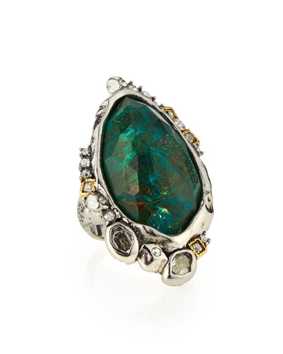 Chrysocolla Cocktail Ring