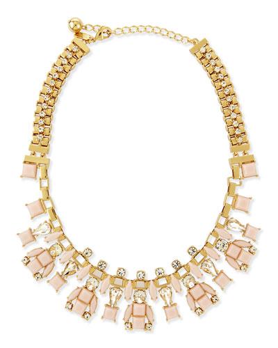 turn heads statement necklace, pink