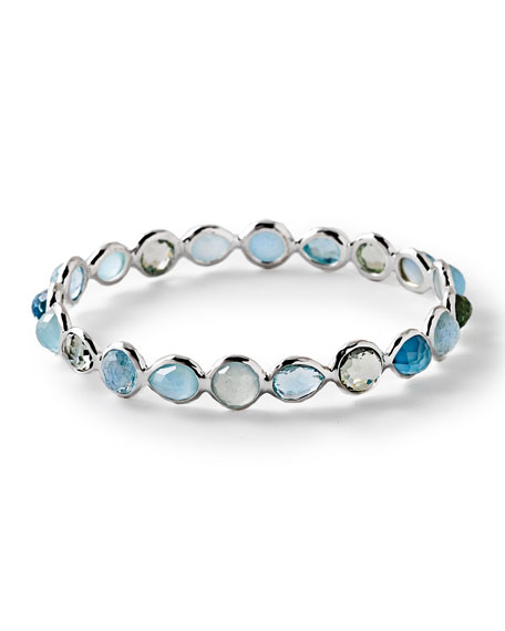 Rock Candy Silver All Around Bangle Bracelet in Light Blue