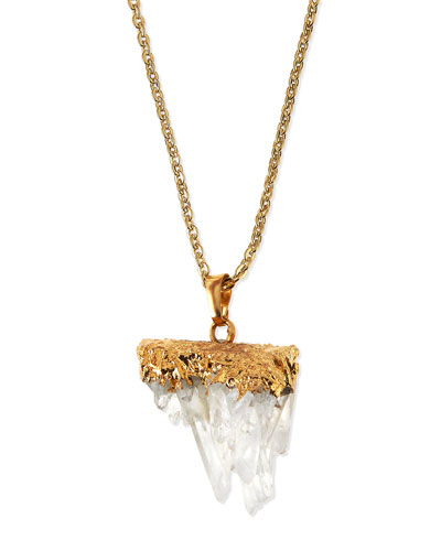 Quartz Long Pendant Necklace