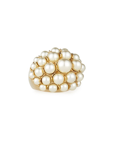 Signature Pearly Cocktail Ring