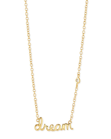 SHY by SE Dream Bezel Diamond Pendant Necklace
