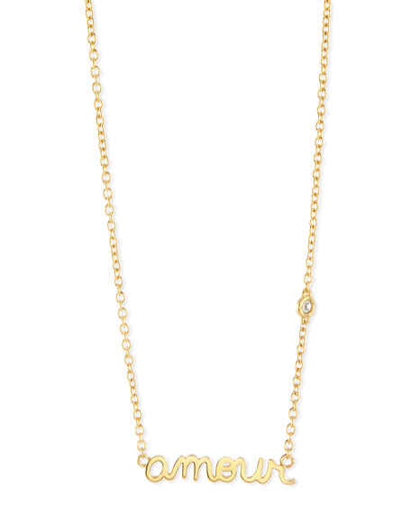 SHY by SE Amour Bezel Diamond Necklace