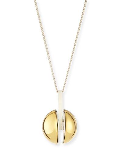 """Ellie Two-Tone Golden Pendant Necklace, 33"""""""