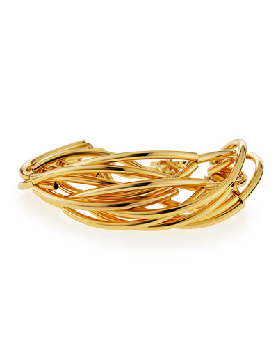 Gold-Plated Twisted Bracelet