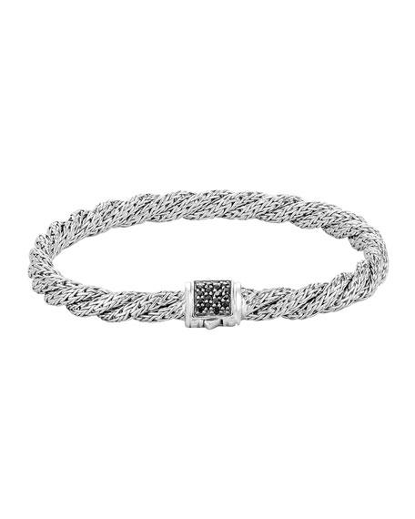 John Hardy Classic Chain Extra-Small Silver Lava Bracelet,