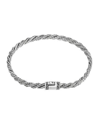 Classic Chain Slim Twist Bracelet, Size M