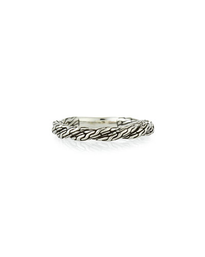 Classic Chain Twisted Band Ring, Size 7