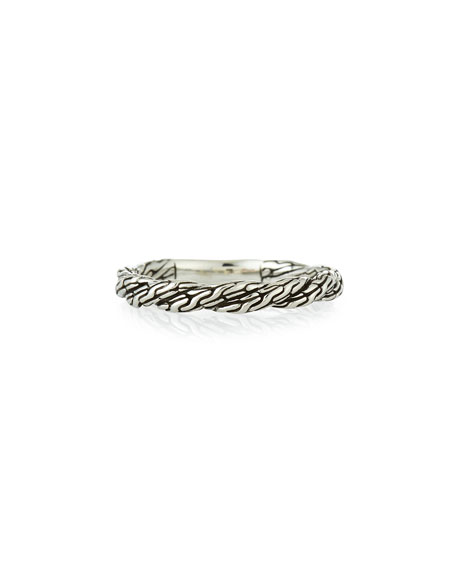 John Hardy Classic Chain Twisted Band Ring, Size